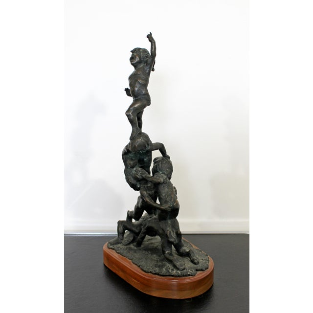 Mid-Century Modern Mid Century Modern Bronze Table Sculpture Signed Edward Chesney 1972 For Sale - Image 3 of 10