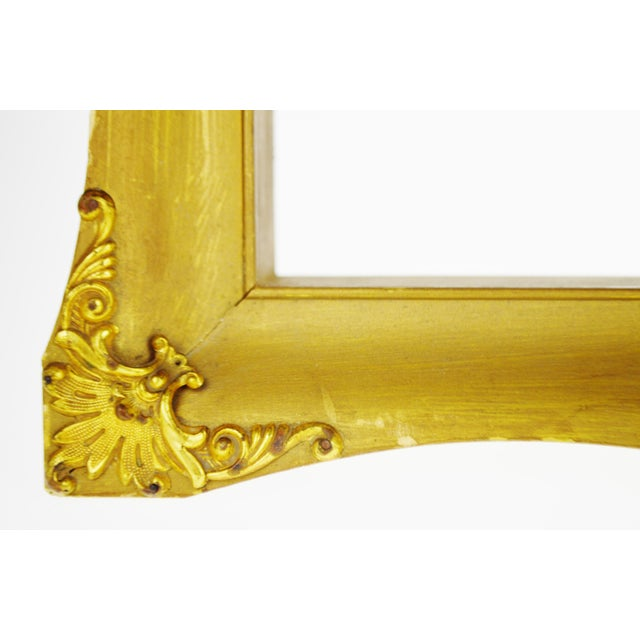 Early Gilt Gesso Shadow Box Wall Shelf with Brass Filigree Adornments For Sale - Image 5 of 11