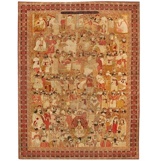 Extremely Fine 19th Century Persian Lavar Leaders of the World Carpet For Sale