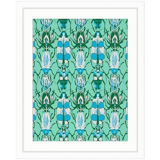 Green Beetle Framed Graphic Print
