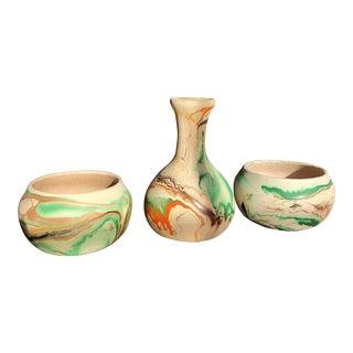 Vintage Nemadji Pottery - Set of 3 For Sale