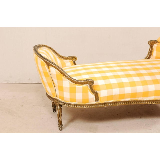 Turn of the Century French Louis XVI Style Chaise For Sale In Atlanta - Image 6 of 11