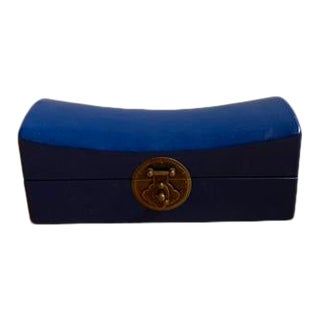 Blue Wooden Jewelry Box For Sale