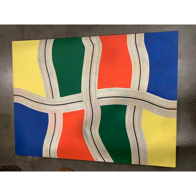 """""""la Freeway"""" Abstract Painting on Canvas For Sale In Seattle - Image 6 of 6"""