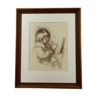 """1960's Impressionist Print, """"Small Painter"""" by Renoir For Sale"""