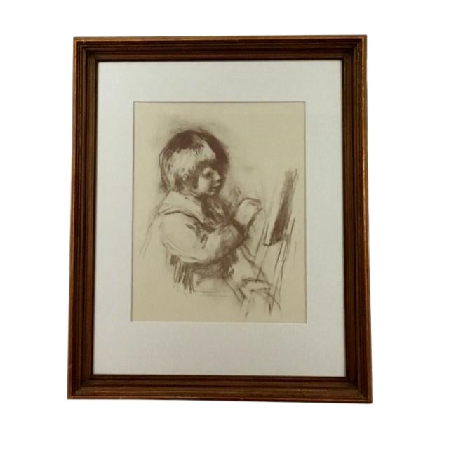 "1960's Impressionist Print, ""Small Painter"" by Renoir For Sale"
