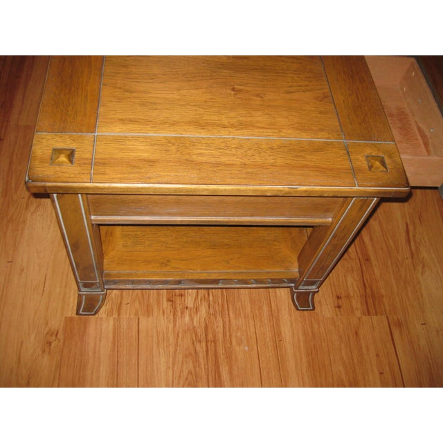 Vintage Rustic Style End Table For Sale - Image 4 of 10