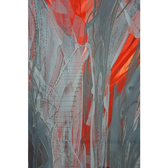 """""""IR-1534 Red Fire"""" Painting - Image 5 of 7"""
