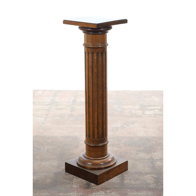 Antique Carved Colonial Walnut Pillar Pedestal - Image 10 of 10
