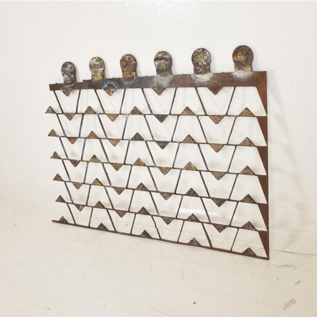 1980s Mexican Modernist Metal Art Room Divider Screen For Sale - Image 5 of 9