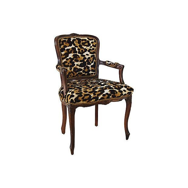 Carved Armchair W/ Cowhide Animal Spots For Sale - Image 11 of 12