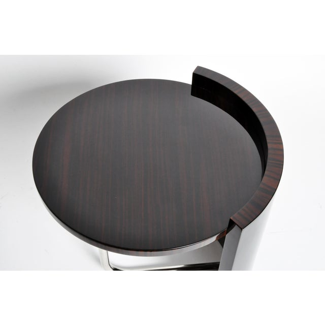 Contemporary Round Mid-Century Style Tables - a Pair For Sale In Chicago - Image 6 of 11