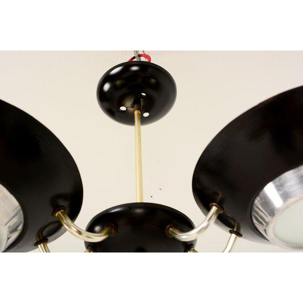Mid-Century Flush Mount Ceiling Fixture For Sale - Image 4 of 9