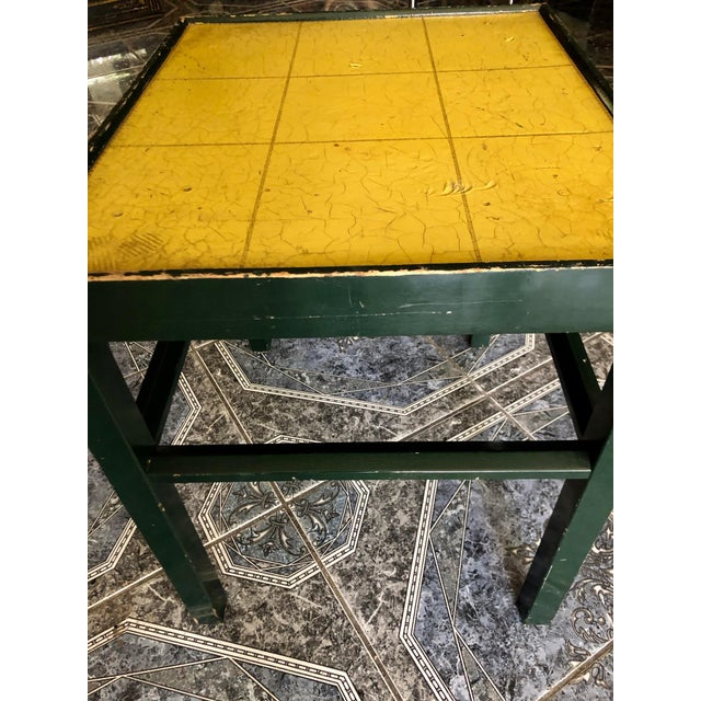 20th Century Rustic Kittinger Modern Painted Side Table For Sale In Sacramento - Image 6 of 11