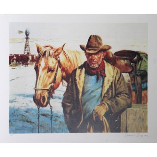 Duane Bryers, Checking the Stock, Lithograph For Sale