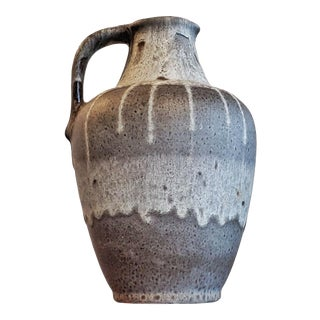 Gray E S Keramik Lava Glaze Jug Vase For Sale