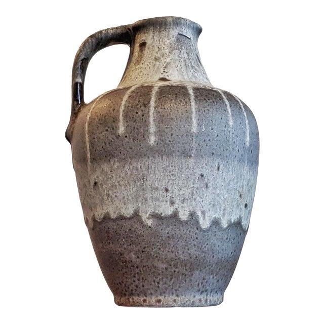 Gray E S Keramik Lava Glaze Jug Vase For Sale