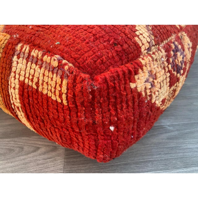1980s Vintage Moroccan Pouf Cover For Sale - Image 4 of 13