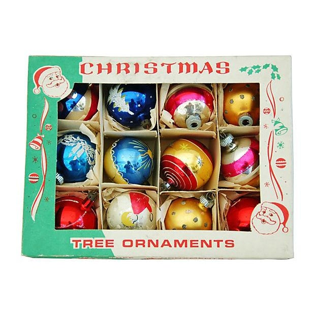1960s Christmas Ornaments with Box - Set of 12 - Image 8 of 9