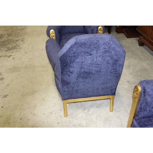 French Art Deco Paul Follot Settee & Chairs - Set of 3 For Sale - Image 10 of 10
