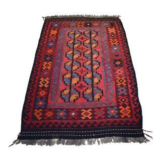 Tribal Afghan Handwoven Kilim Rug - 2′10″ × 4′10″
