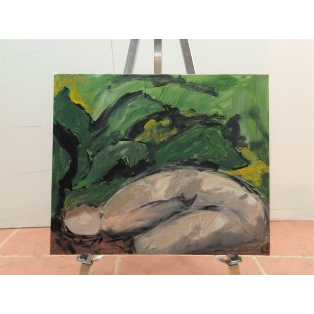 Large Figurative Painting on Canvas For Sale - Image 4 of 4