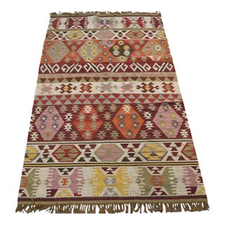 "Vintage Danish Woven Rug - 5' x 8'4"" For Sale"