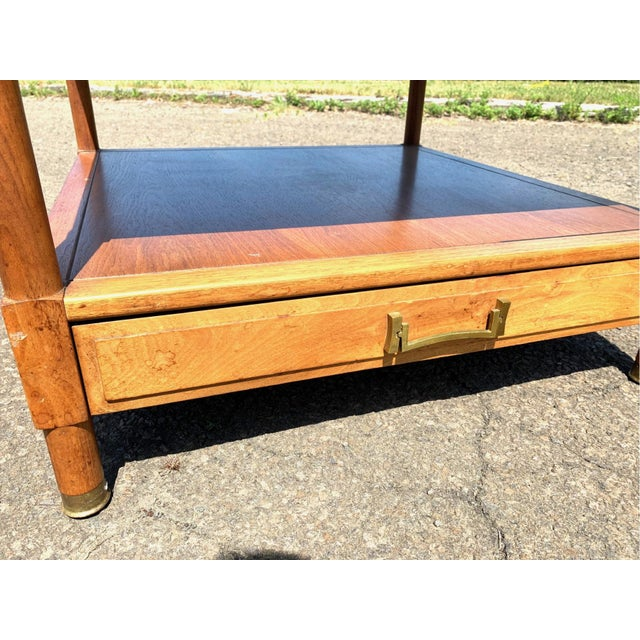 Mid-Century Modern Mid-Century Modern Drexel Heritage Walnut Side Table For Sale - Image 3 of 10