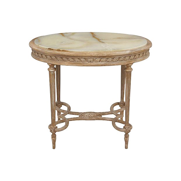 Louis XVI Onyx Accent Table - Image 1 of 6