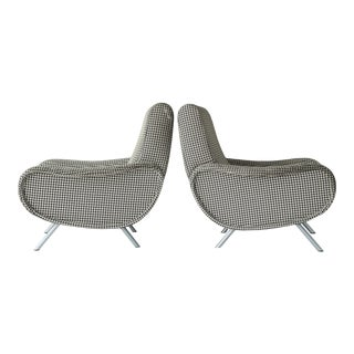 "Marco Zanuso ""Lady"" Chairs for Arflex - a Pair For Sale"