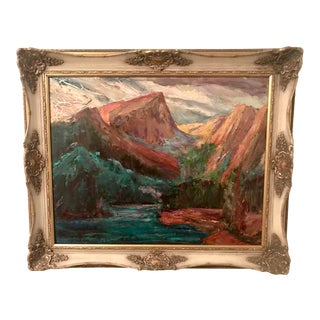 Untitled American Western Landscape Oil Painting by Walter a Bailey For Sale