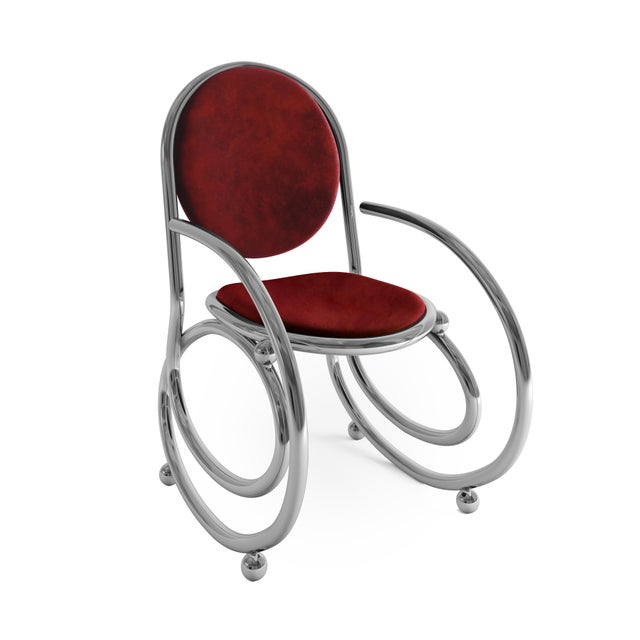 Contemporary 21st Century Custom Made Contemporary One of a Kind Spring Chair With Arms For Sale - Image 3 of 5