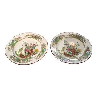 Antique Spode Copeland Pheasant Pattern Plates - Set of 2 For Sale