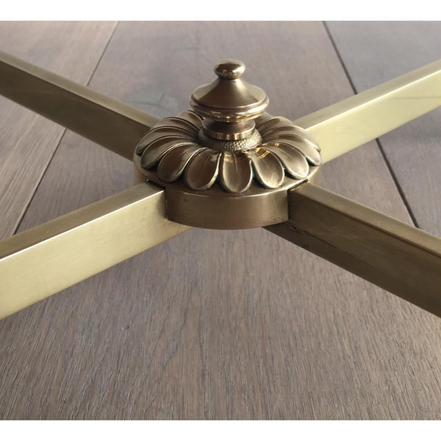 Neoclassical Brass Coffee Table by Maison Jansen - Image 2 of 11