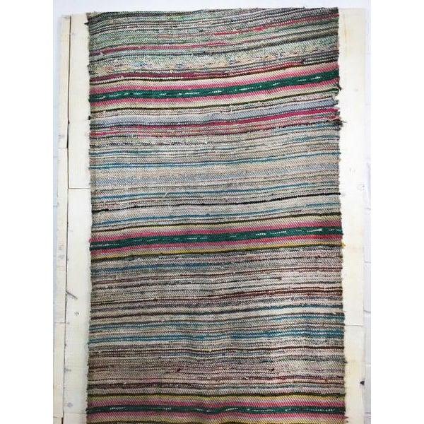 Antique Hand Woven Turkish Kilim Runner Rug - 3′3″ × 9′6″ - Image 3 of 11