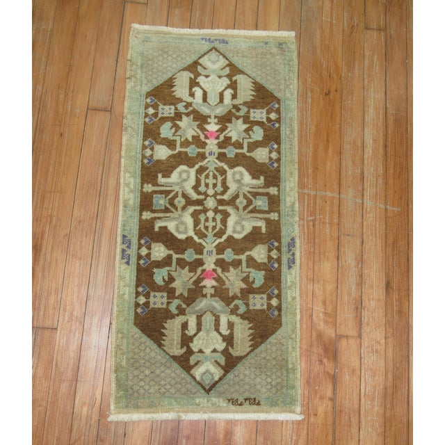 Funky Vintage handmade turkish rug. circa 20th century