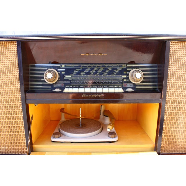 Brown Mid Century German Emud Stereo Console For Sale - Image 8 of 11