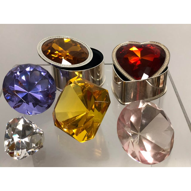Collection of Crystal Gemstone Paperweights & Boxes - Set of 6 For Sale In Atlanta - Image 6 of 9