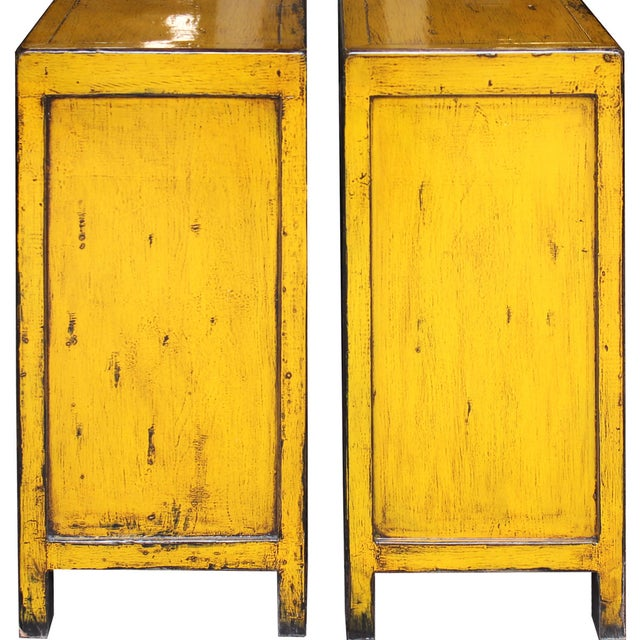 Yellow Side Chests - Pair - Image 6 of 6