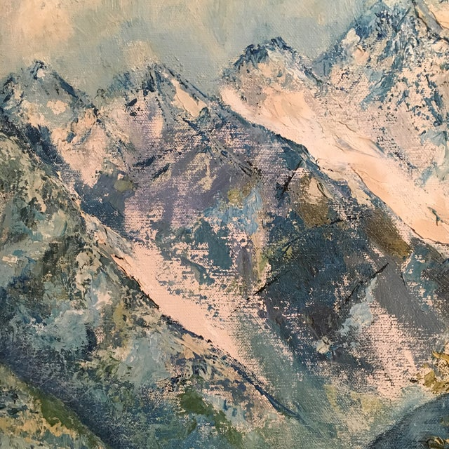 R. Woolman Mountain Landscape Oil Painting For Sale In Houston - Image 6 of 10