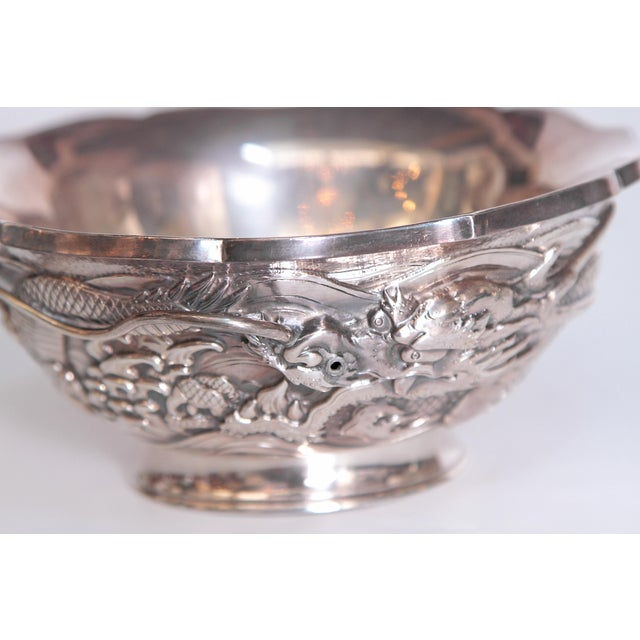 Japanese Silver Bowl For Sale - Image 11 of 13