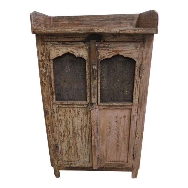 Antique Primitive China Cabinet Cupboard For Sale