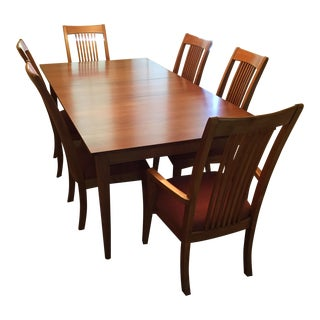 Mission Ethan Allen New Impressions Dining Set - 7 Pieces For Sale