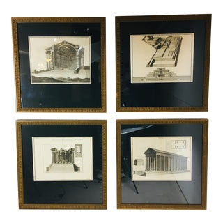 18th Century French Neoclassical Etchings - Set of 4 For Sale