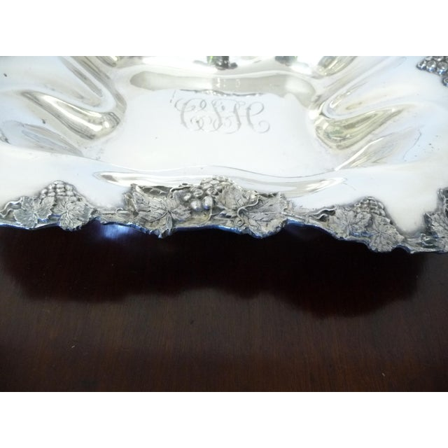 Antique American Silverplate Quadruple Bread Serving Tray For Sale - Image 4 of 6