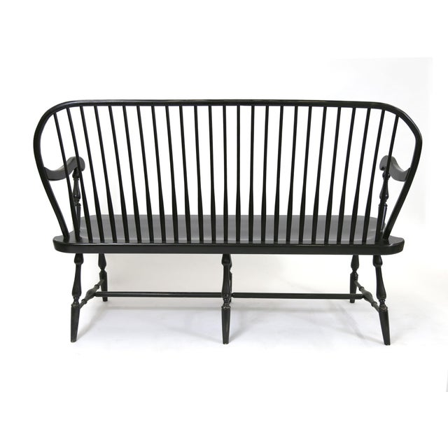 Traditional Windsor Style Amish Bench - Image 5 of 11
