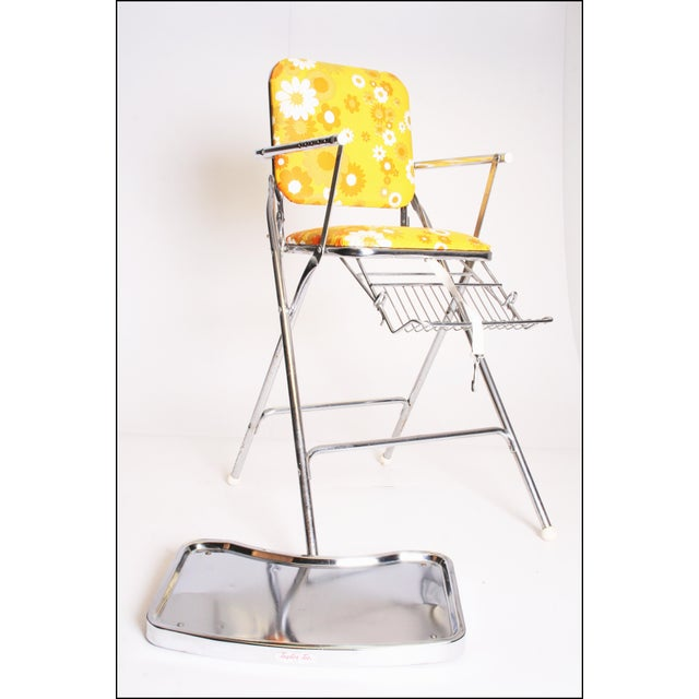 Mid Century Modern 70s Chrome High Chair by Taylor Tot For Sale - Image 6 of 11