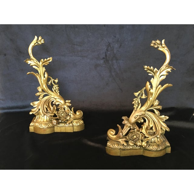 Bronze 19th Century Bronze Andirons - a Pair For Sale - Image 7 of 8
