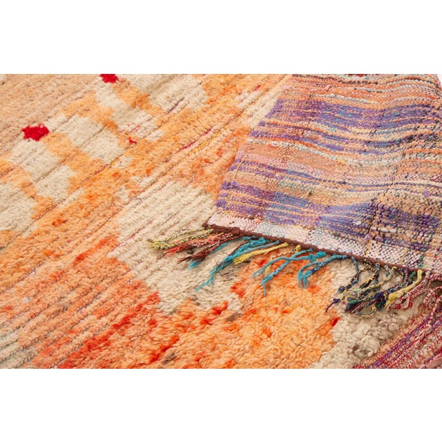 2010s Contemporary Moroccan Berber Geometric Wool Pile Rug - 3′8″ × 7′3″ For Sale - Image 5 of 6