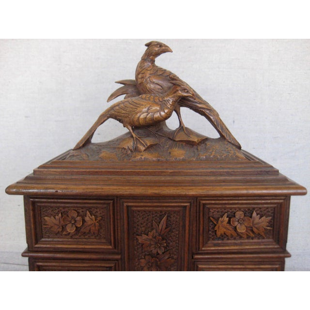 19 Century Black Forest Jewelry Box For Sale - Image 4 of 12